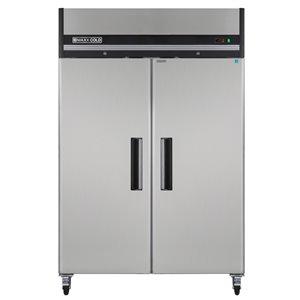 Congélateur commercial X Series Maxx Cold à 2 portes, 49 pi³, acier inoxydable