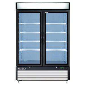 Réfrigérateur commercial X Series Maxx Cold à 2 portes, 48 pi³, blanc