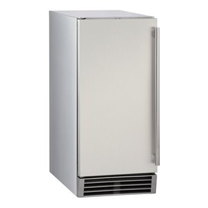 Maxx Ice Commercial Ice Maker with Drain Pump - 50-lb - Stainless Steel