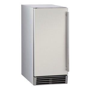 Machine à glaçons commerciale Maxx Ice avec pompe de vidange, 50 lb, acier inoxydable