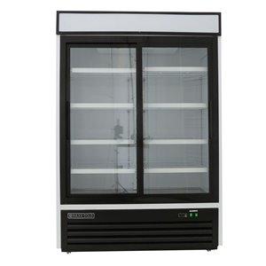 Réfrigérateur commercial X Series Maxx Cold à 2 portes coulissante, 48 pi³, blanc