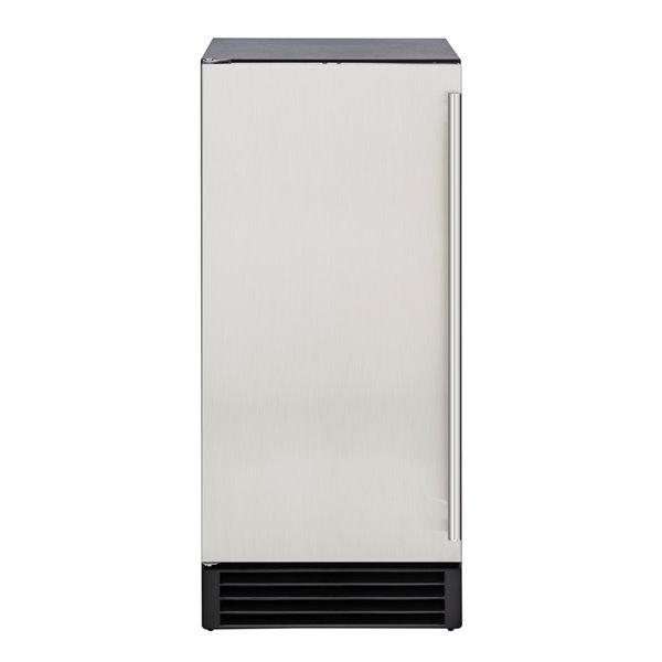 Machine à glaçons Maxx Ice autoportante/encastrable, 50 lb, acier inoxydable