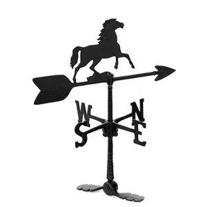 Girouette pour le toit Klassen Bronze avec motif de cheval, fonte d'aluminium noire