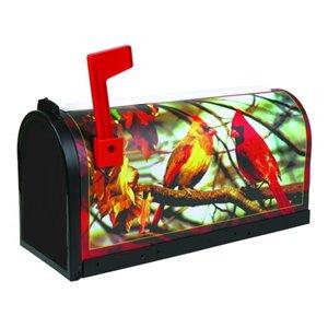 Boîte aux lettres avec cardinaux PRO-DF, plastique noir