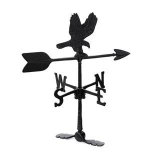 Girouette pour le toit Klassen Bronze avec motif de aigle, fonte d'aluminium noire