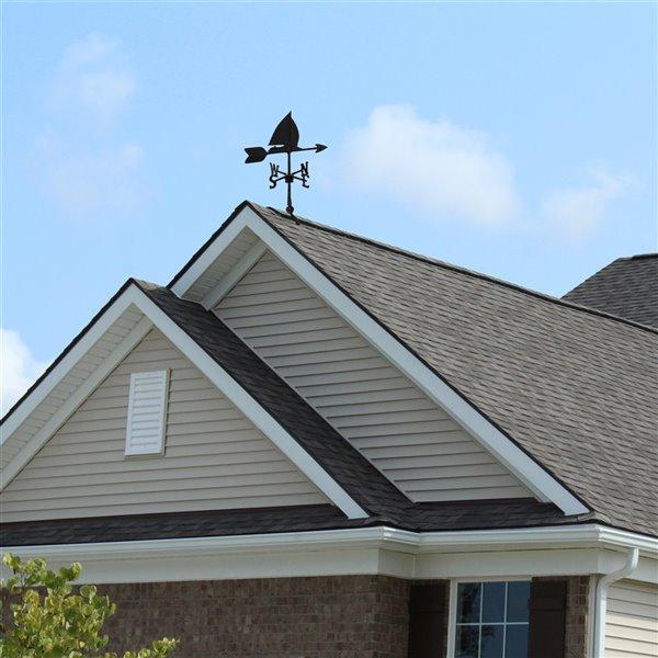 Girouette pour le toit Klassen Bronze avec motif de bateau à voile, fonte d'aluminium noire