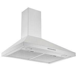 Ancona 30-in Convertible Wall-Mounted Pyramid Range Hood - 600 CFM - Stainless Steel
