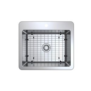 Ancona Valencia Series Compact Dual Mount Single Bowl Kitchen Sink - 25-in x 22-in - Stainless Steel