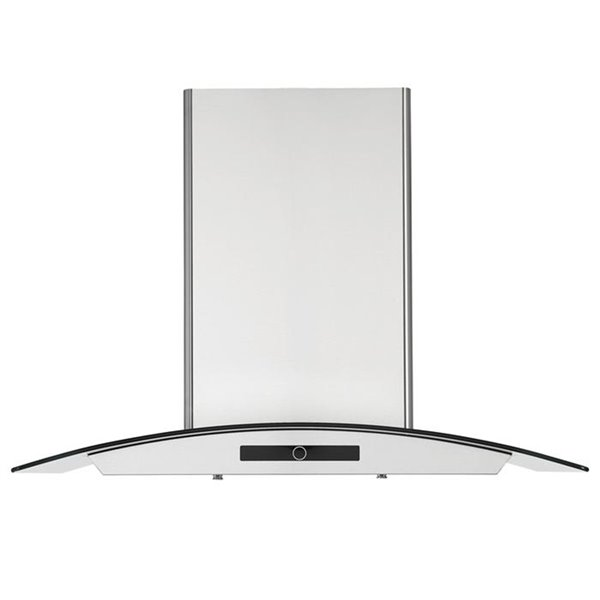 Ancona 30-in Convertible Wall-Mounted Glass Canopy Range Hood - 600 CFM - Stainless Steel
