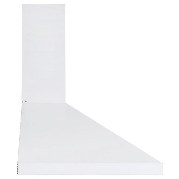 Ancona 30-in Convertible Wall-Mounted Pyramid Range Hood - 440 CFM - White