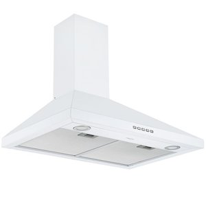 Ancona 30-in Convertible Wall-Mounted Pyramid Range Hood - 440 CFM - White