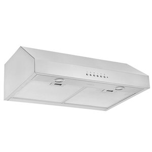 Ancona UCDI430 30-in Under-Cabinet Range Hood with Night Light Feature - Stainless Steel