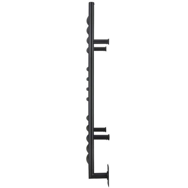 Chauffe-serviette électrique Svelte de Ancona, noir mat