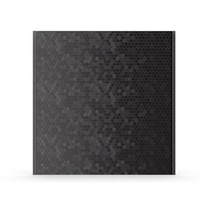 Inoxia Hexagonia Metal Self-Adhesive Range Backsplash - 30.75-in x 4-in - Black