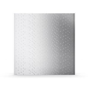 Inoxia Linox Metal Self-Adhesive Backsplash - 32-in x 4-in - Stainless Steel