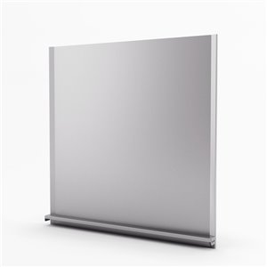 Inoxia Alpha Metal Backsplash - Adjustable Height - 30-in x 30-in - Stainless Steel