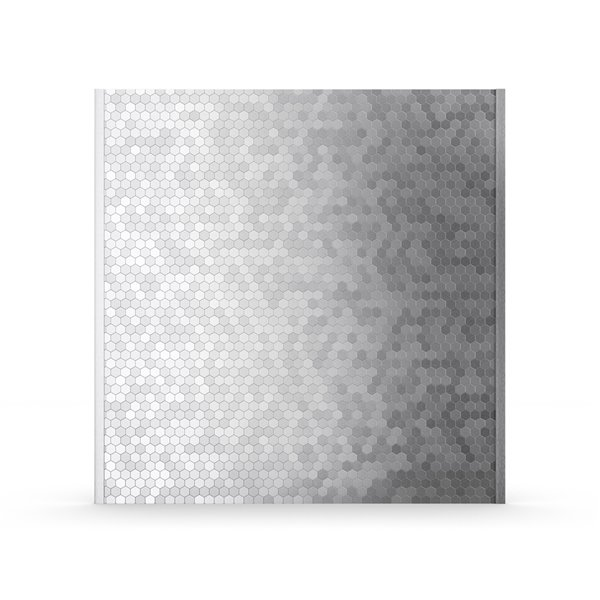 Dosseret autoadhésif Hexagonia d'Inoxia en métal, 31 po x 4 po, gris argenté