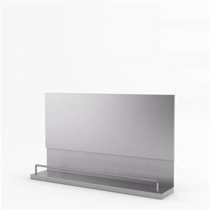 Inoxia Mercury Metal Backsplash - 33.4-in x 32-in - Stainless Steel