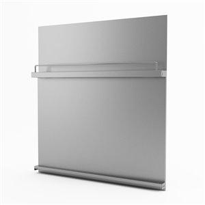 Inoxia Delta Metal Backsplash - Adjustable Height - 32-in x 32-in - Stainless Steel