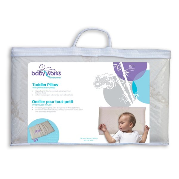 Baby Works Toddler Pillow - 19.17-in x 12.20-in - Off-White