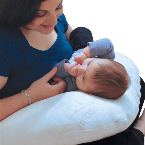 Baby Works Feeding Pillow - 21-in x 18.5-in - Off-White
