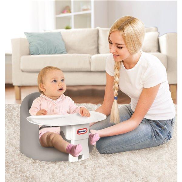 """Siège de plancher pour enfant avec plateau """"My First Seat"""" de Little Tikes, gris"""