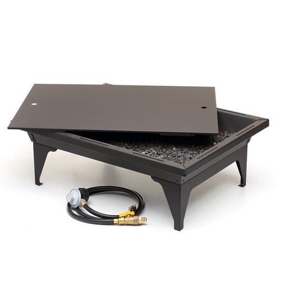 Kingsman Outdoor Firepit Rectangular 65 000 Btu 20 In X 27 In Fp2785lp Fl Rona