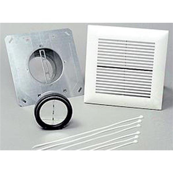Kit d'installation pour salle de bain WhisperLine de Panasonic, 6 po, entrée unique