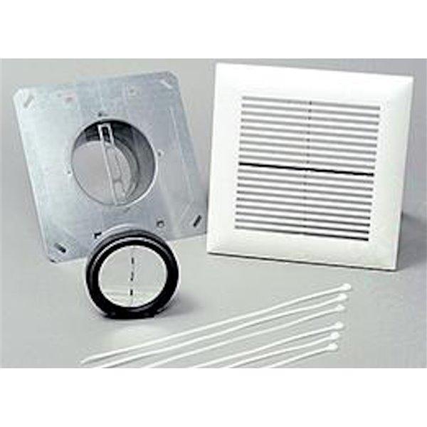 Kit d'installation pour salle de bain WhisperLine de Panasonic, 4 po, entrée unique