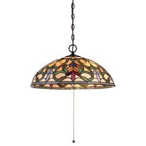 Fine Art Lighting 3-Light Tiffany Style Pendent - 20-in