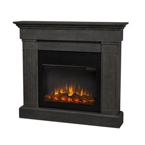 Real Flame Crawford 47.4-in W Gray Fan-Forced Electric Fireplace