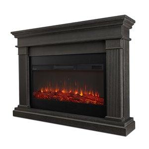 Foyer électrique à air forcé Beau de Real Flame, 58,5 po de large, gris