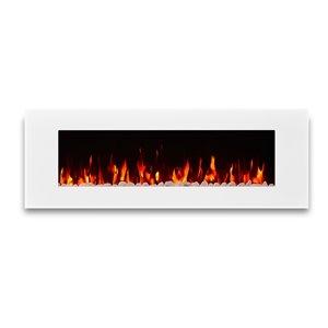 Foyer électrique à air forcé DiNatale de Real Flame, 50 po de large, blanc