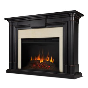 Foyer électrique à air forcé Maxwell de Real Flame, 57,75 po de large, noir délavé