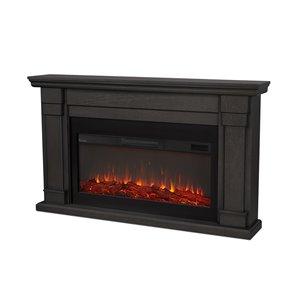 Foyer électrique à air forcé Carlisle de Real Flame, 64 po de large, gris