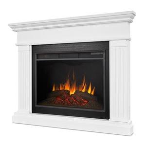 Foyer électrique à air forcé Kennedy de Real Flame, 55,5 po de large, blanc
