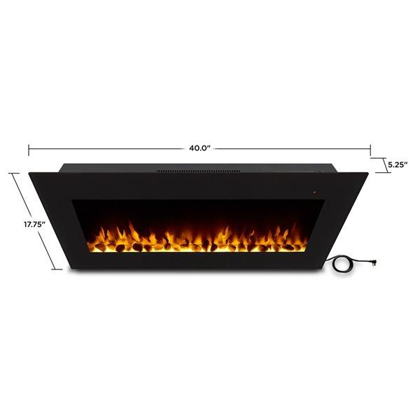 Foyer électrique à air forcé Corretto de Real Flame, 40 po de large, noir