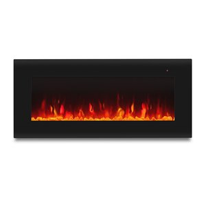 Real Flame Corretto 40-in W Black Fan-Forced Electric Fireplace