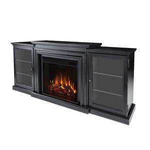 Foyer électrique à air forcé Frederick de Real Flame, 72 po de large, noir délavé