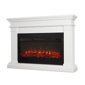 Foyer électrique à air forcé Beau de Real Flame, 58,5 po de large, blanc