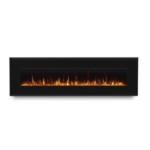 Foyer électrique à air forcé Corretto de Real Flame, 72 po de large, noir