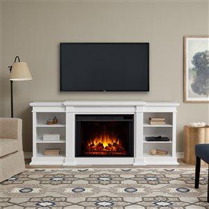 Foyer électrique à air forcé Eliot de Real Flame, 81,12 po de large, blanc