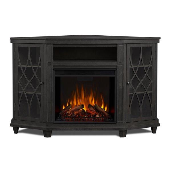 Foyer électrique à air forcé Lynette de Real Flame, 56,26 po de large, gris