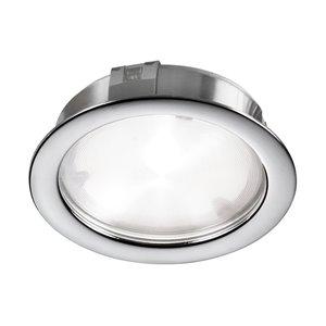 Lumière en rondelle Dainolite 24 V DEL 314 lumens, chrome poli, 2,25 po
