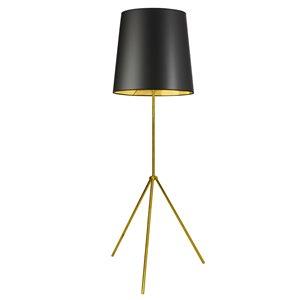 Lampe sur pied incandescent Dainolite, or noir, 66 po
