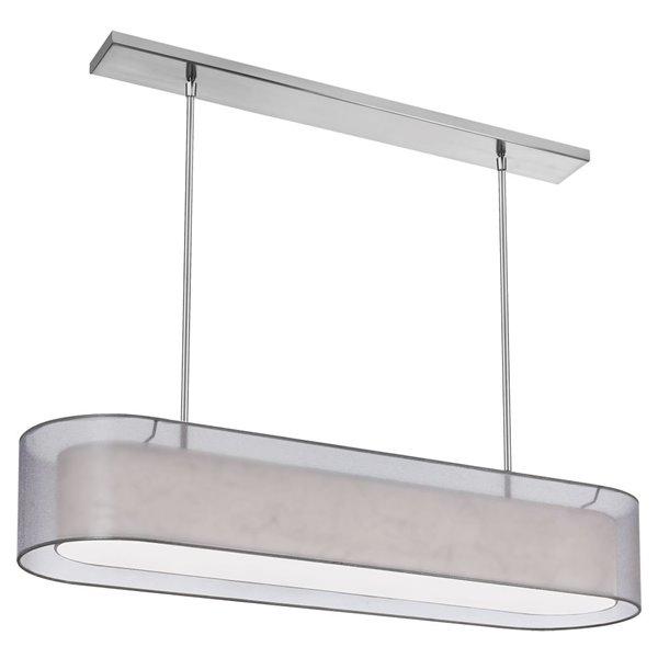 Luminaire suspendu Melissa de Dainolite à 4 ampoules, chrome poli