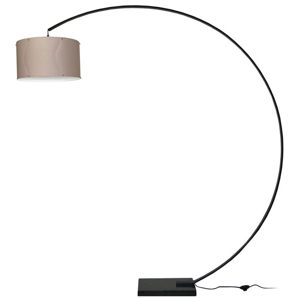 Dainolite Arc Floor Lamp Black Aluminum - 79-in
