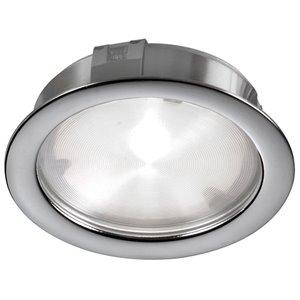 Lumière en rondelle Dainolite 24 DEL 314 lumens, nickel satiné, 2.75 po