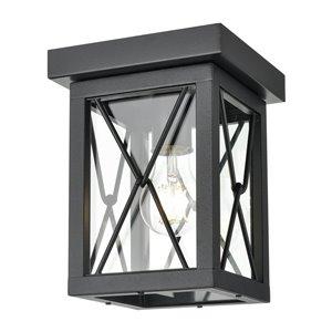 Plafonnier d'extérieur County Fair de DVI, 1 lumière, 6,75 po, noir