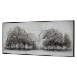 Gild Design House Wildwood Fog, Hand Painted Canvas - 31-in x 71-in